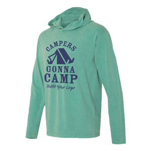 COMFORT COLORS LONG SLEEVE HOODED T-SHIRT