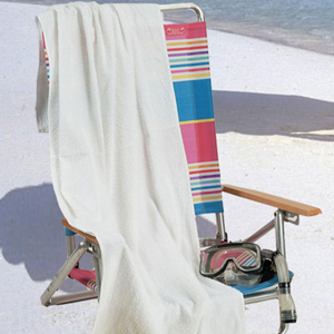 WHITE TERRY BEACH TOWEL
