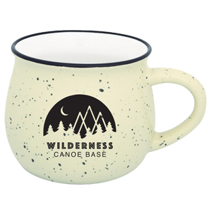 POTBELLY CERAMIC CAMPFIRE MUG, 9 OZ