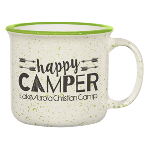 TWO TONE CERAMIC CAMPFIRE MUG, 15 OZ