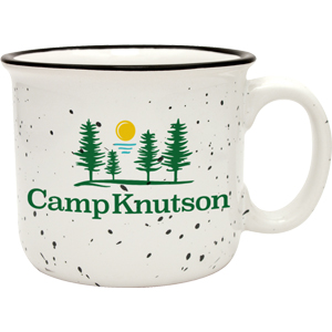 CERAMIC CAMPFIRE MUG, SCREENED, 14 OZ