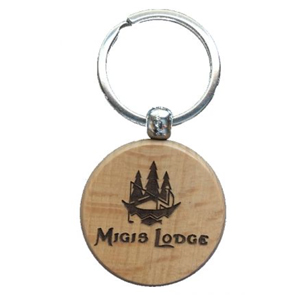ENGRAVED WOODEN KEYCHAINS