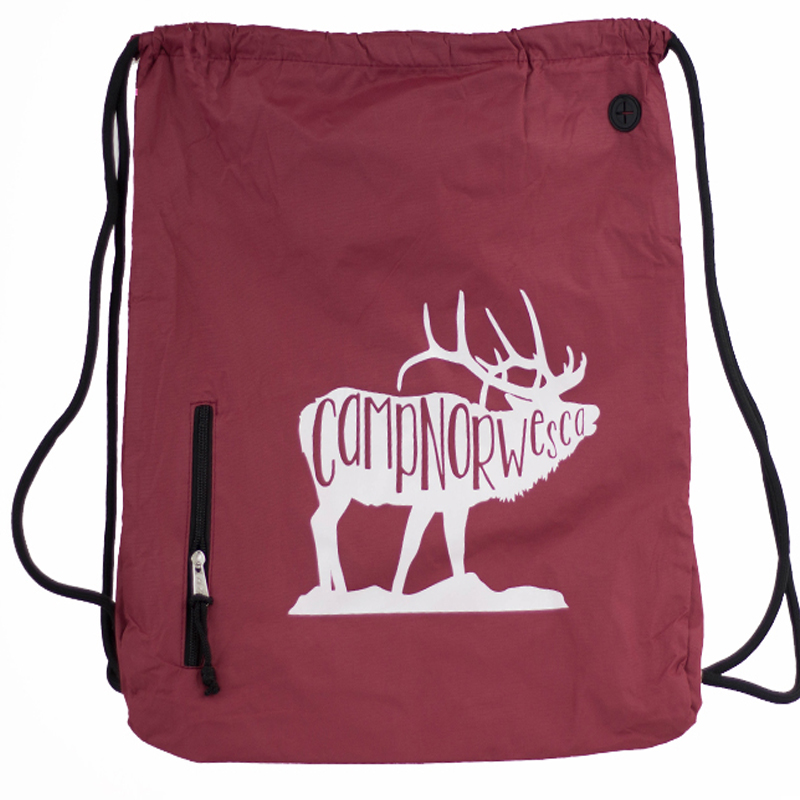 GRIZZLY BEAR MUSCLE DRAWSTRING BACKPACK