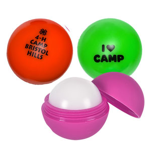 (NEW STYLE) RUBBERIZED LIP BALM BALL