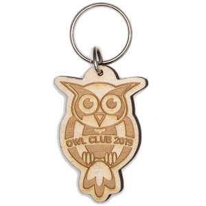 LASER ETCHED WOODEN KEY TAGS, 4