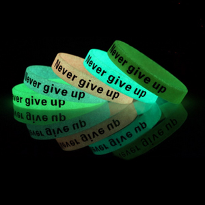 GLOW IN THE DARK SILICONE BAND, .5