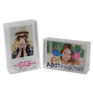 SNOW GLOBE PICTURE FRAME, 4