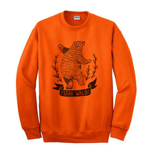 SCREENED CREWNECK SWEATSHIRT, 9.3 OZ
