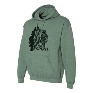 SCREENED HOODIE SWEATSHIRT, 8 OZ