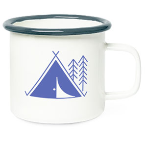 HEAVYWEIGHT METAL CAMPFIRE MUG, 14 OZ