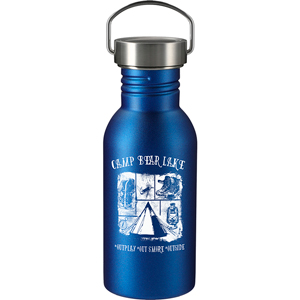 STAINLESS LOOP BOTTLE, 20 OZ